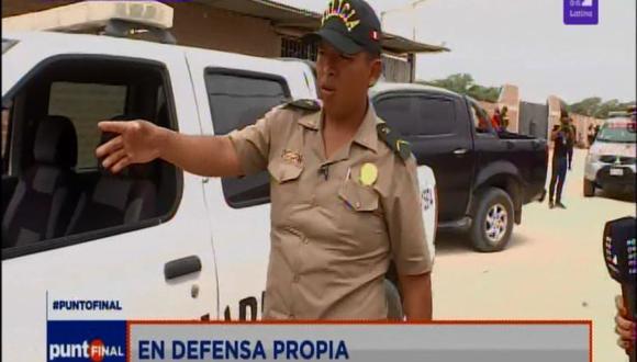 El suboficial PNP Carlos Carhuayo Cruz dio detalles de la intervención policial en el distrito de Castilla, en Piura. (Foto: Latina)