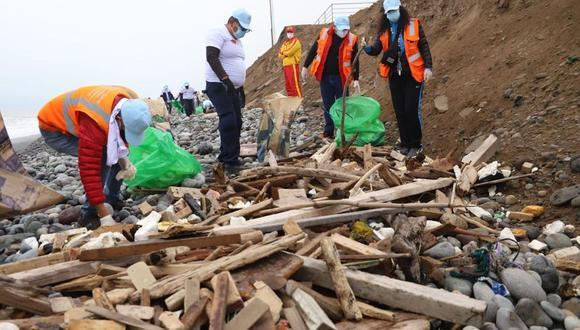 La Municipalidad de Magdalena advirtió que sanciona hasta con 6,600 soles a aquellas personas que arrojan basura o desmonte en las playas y la zona ribereña de la Costa Verde correspondiente al distrito. (Difusión)