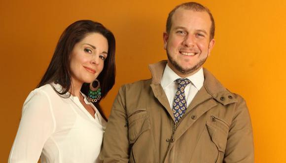 Augusto Thorndike y Rebeca Escribens debutaron como conductores del programa 'A las 11'. (Luis Gonzales)