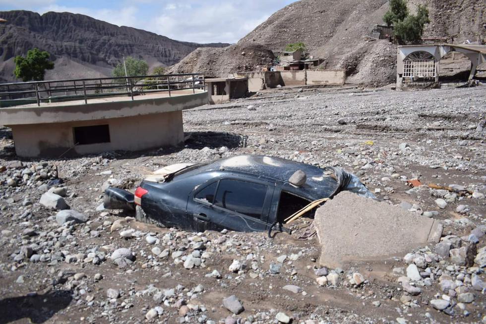 Tétrico. La tarde del viernes 8 de febrero quedará en la memoria de los habitantes de Mirave, en Tacna. (COER TACNA)