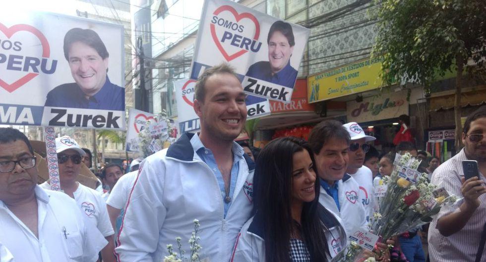 ¡En campaña! Vanessa Terkes y George Forsyth recorren Gamarra tras anuncio de candidatura. (Difusión)