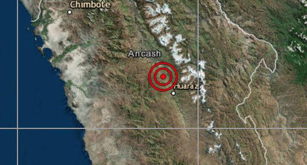 El epicentro de este movimiento telúrico se ubicó a 14 kilómetros al sur de Carhuaz, en la provincia del mismo nombre, en la región de Áncash.(Foto: captura de IGP)