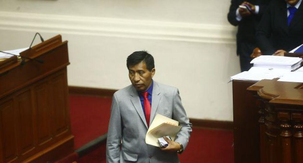 Congresista denuncia que le ofrecieron obras a cambio de su voto (Foto: Luis Centurión)