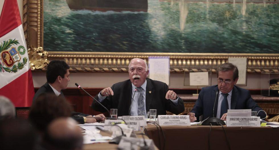 Carlos Tubino tildó a la policía de Policía política en medio de la Comisión de Defensa. (Hugo Pérez - GEC)
