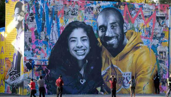 La viuda de Kobe Bryant recordó a su hija Gianna. (Foto: AFP)
