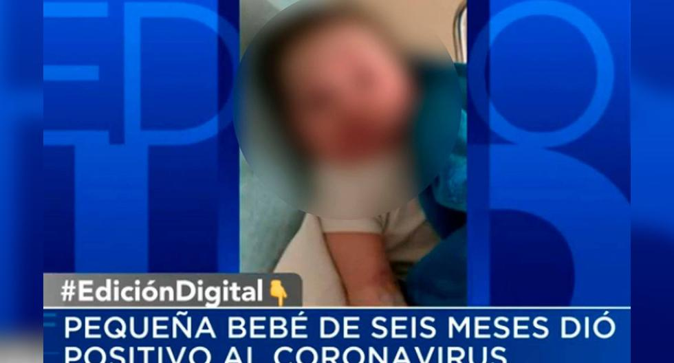 Imagen de Valentina, de 6 meses, que fue diagnosticada con el nuevo coronavirus en Texas, Estados Unidos. (Foto: Captura de video/Univisión).