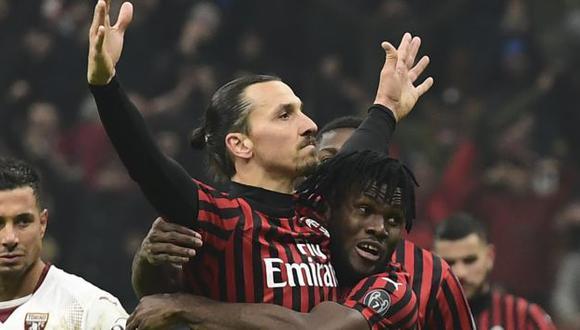Ibrahimovic ya tiene 7 goles en la presente temporada de la Serie A. (Foto: AFP)