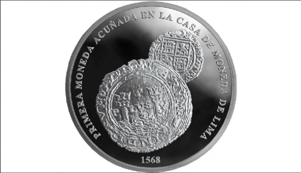 BCR: Presentan moneda de plata por los 450 años de la Casa de Moneda de Lima. (BCR)