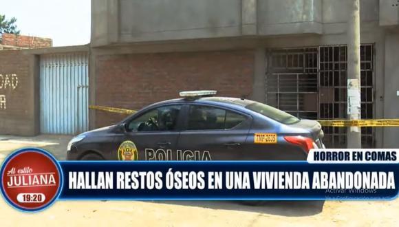 La Policía llegó al lugar y procedió a recoger los restos humanos. (ATV)