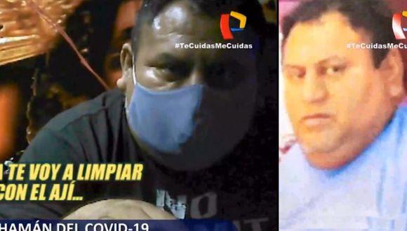 Curandero afirmaba curar el coronavirus. (Captura Panorama)