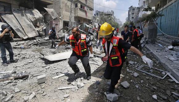 Al menos 410 palestinos muertos por ataques insraelíes en Franja de Gaza. (AP)