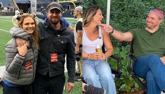Stephen Amell y su esposa, Cassandra Jean, tuvieron que abandonar un avión tras protagonizar una acalorada discusión. (Foto: @cassandrapants)