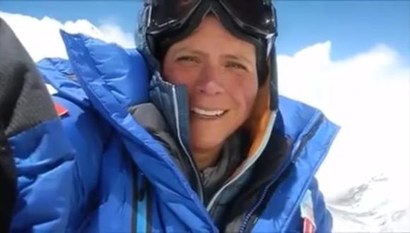 Silvia Vásquez-Lavado grabó este mensaje desde el Everest. (Facebook )
