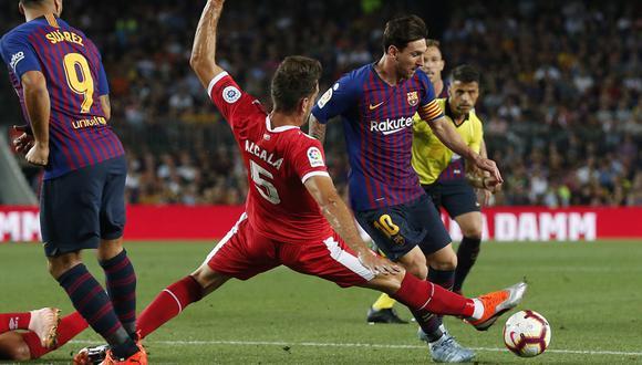 FC Barcelona y Girona empataron el domingo por LaLiga. La revancha la quieren jugar en estados Unidos. (AFP)