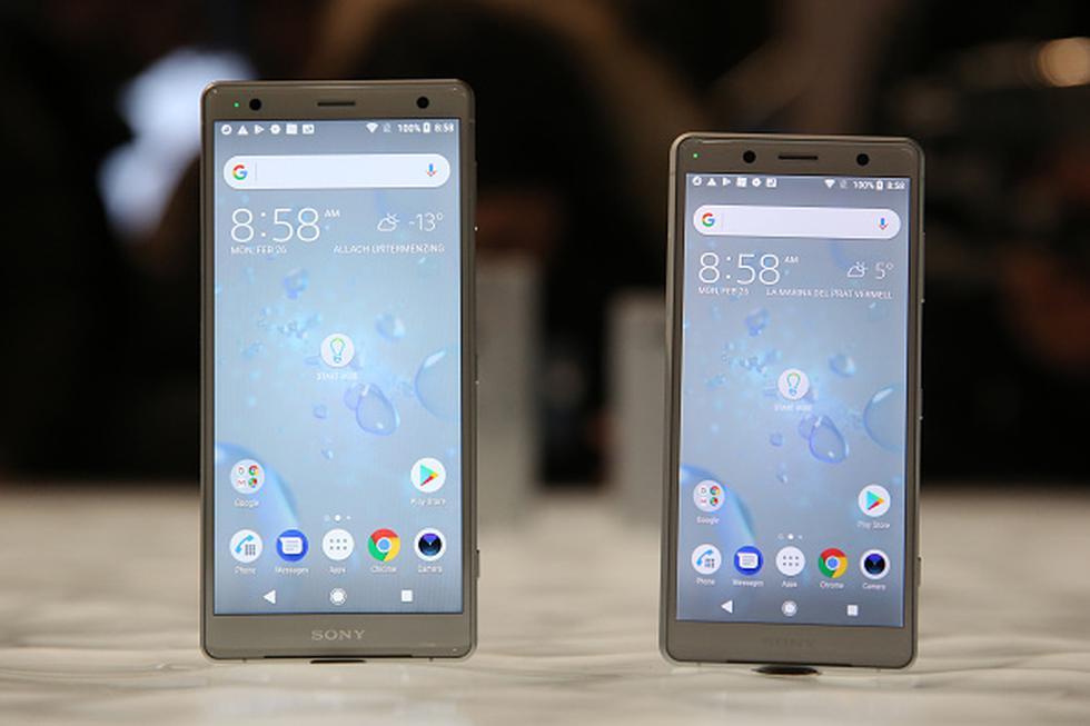 Sony ha presentado sus dos nuevos teléfonos insignia para este año en el marco del Mobile World Congress 2018 (MWC) que se lleva a cabo en la ciudad de Barcelona. (Getty)