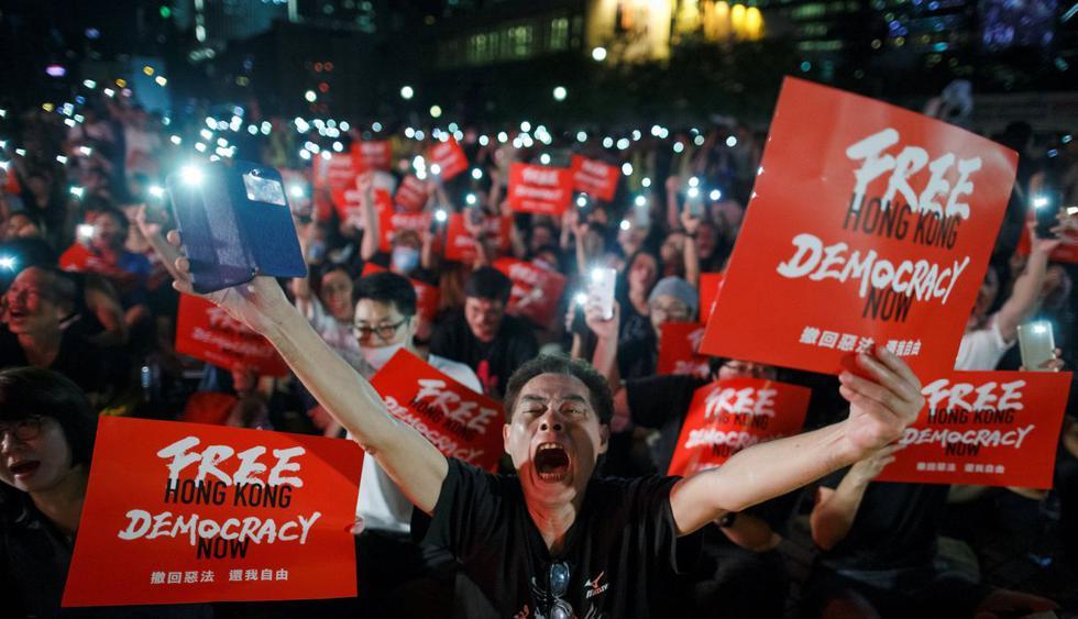Miles en Hong Kong claman al G20 que defiendan sus derechos. (Foto: EFE)