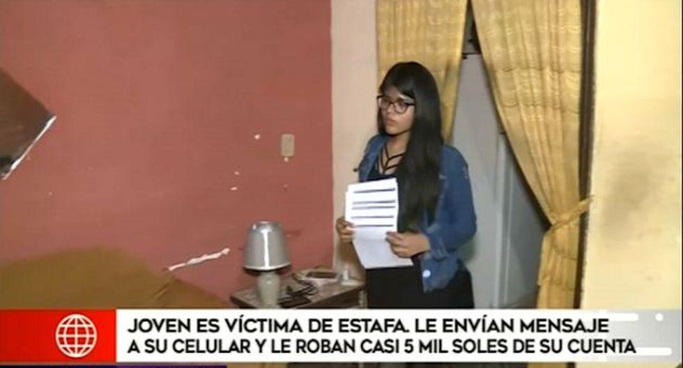 La víctima sufrió la pérdida de S/5 500 de sus tarjetas el pasado 5 de diciembre. (Foto captura: América Noticias)