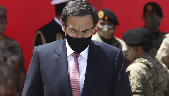 Martín Vizcarra afronta una acusación constitucional por el caso 'Vacunagate' . (Britanie Arroyo/GEC)
