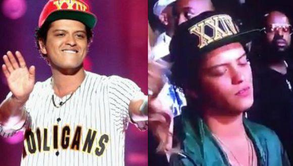 Bruno Mars se queda dormido en los 'BET Awards' y causa revuelo (Composición)