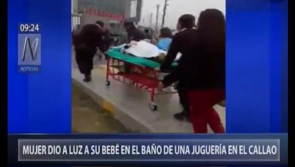 Hospital Negreitos informó que joven madre y su bebé están fuera de peligro. (Canal N)