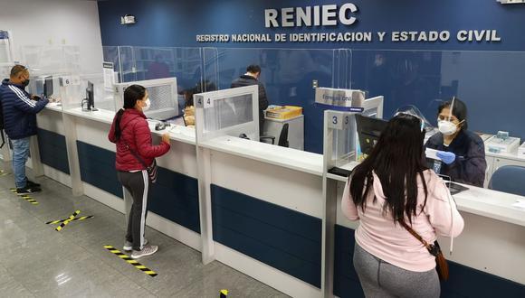 La Reniec solicitó una ampliación de presupuesto en el marco de la pandemia por el coronavirus y las próximas elecciones generales. (Foto: Reniec)