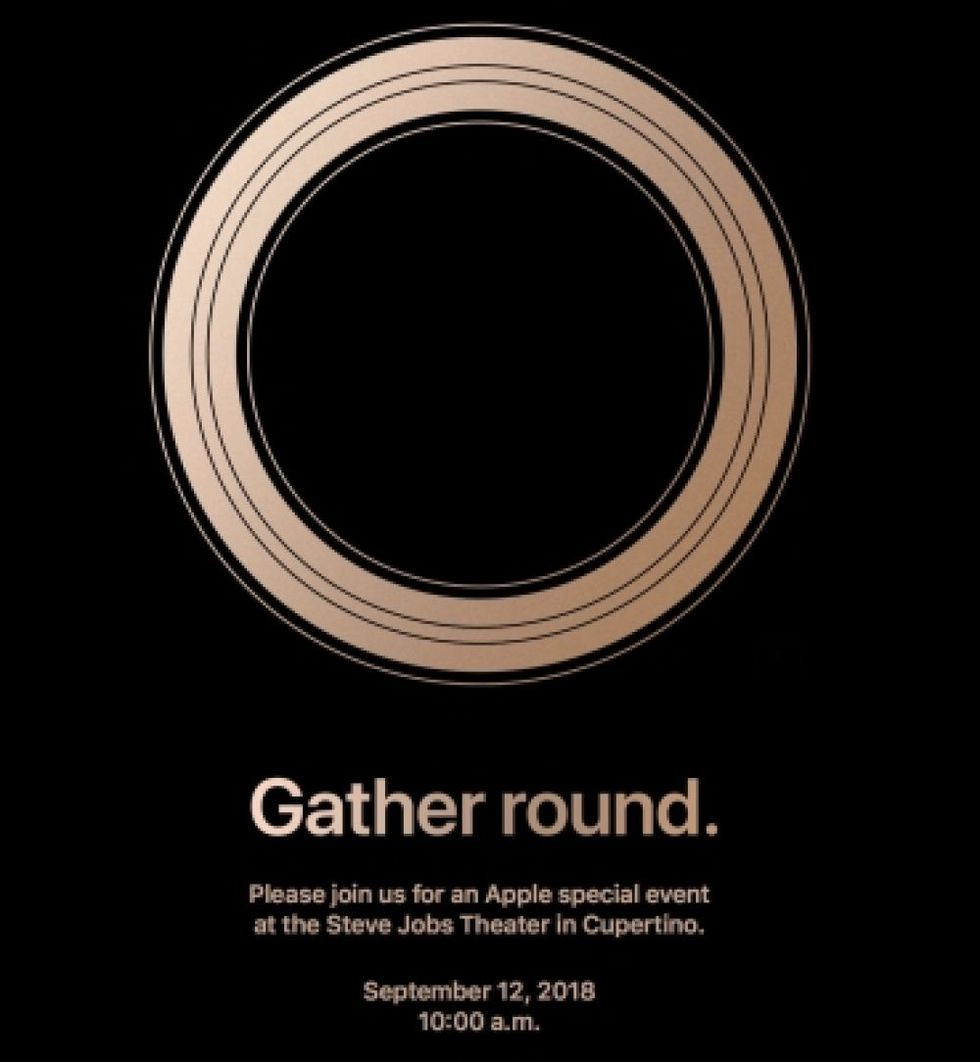 Invitación de Apple para su Keynote 2018.