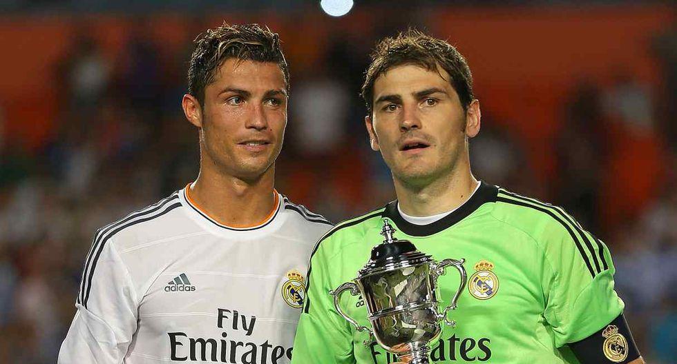 El mensaje de Cristiano Ronaldo a Iker Casillas. (Foto: AFP)