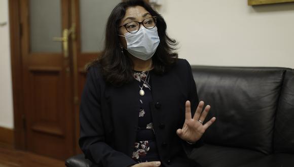 Violeta Bermúdez reiteró que en los próximos días el gobierno publicará los protocolos sanitarios que deberán cumplir los candidatos en campaña. (Foto: Presidencia)