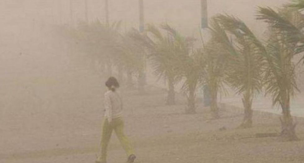 Este incremento de viento generará levantamiento de polvo/arena y reducción de la visibilidad horizontal, en especial en la costa de Ica. (Foto: GEC/Referencial)