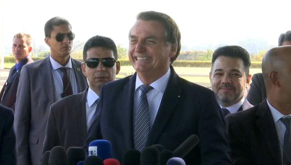 """Jair Bolsonaro dijo que agradece a su amigo Macron por mostrar a los brasileños una amazonía que no conocían, con """"jirafas"""" y """"dragones"""". (Foto: EFE)"""