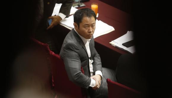 El congresista no agrupado Kenji Fujimori reveló algunas infidencias sobre el trato que le daban su hermano y ex partido político. (Mario Zapata)