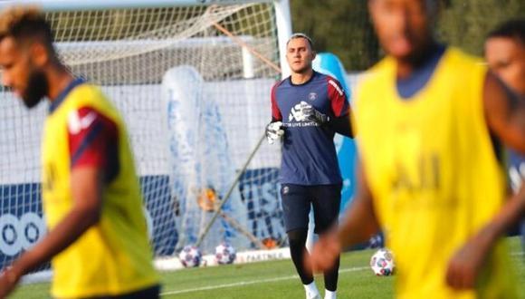Keylor Navas volvió a entrenar con PSG y se mete en la final de la Champions League (Foto @PSG_inside)