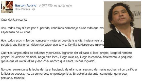 Acurio señaló que Aymar debe ser recordado como un chef feliz. (Facebook/Perú21)