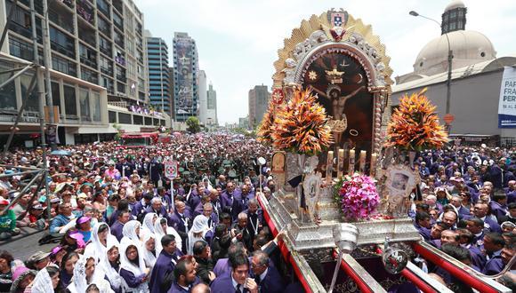 El sábado 06 de octubre se realizará la primera procesión del Señor de los Milagros en Lima, donde miles de fieles se reunirán para rendirle homenaje. (Foto: El Comercio)