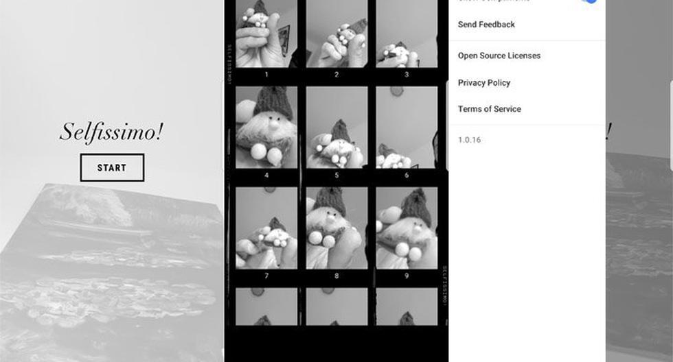 Selfissimo! (Android / iOS): Con la opción de tomar 'selfies' en blanco y negro, solo deberás tocar la pantalla y la app capturará una foto cada vez que dejas de moverte. Cuando hayas finalizado tocarás la pantalla, una vez más, para finalizar la sesión y guardar las imágenes individuales o la sesión completa.