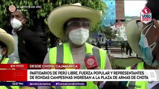 Elecciones 2021: Presidenta de rondas no pudo ingresar con chicote a Plaza de Armas de Chota