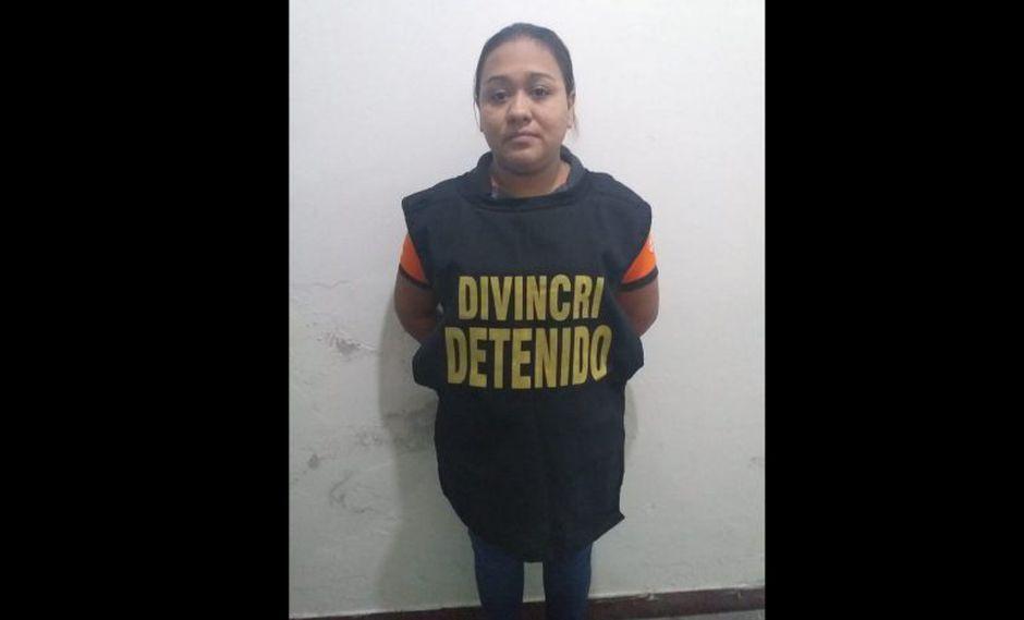 Mujer tuvo que admitir su participación en el robo tras verse descubierta (Policía Nacional)