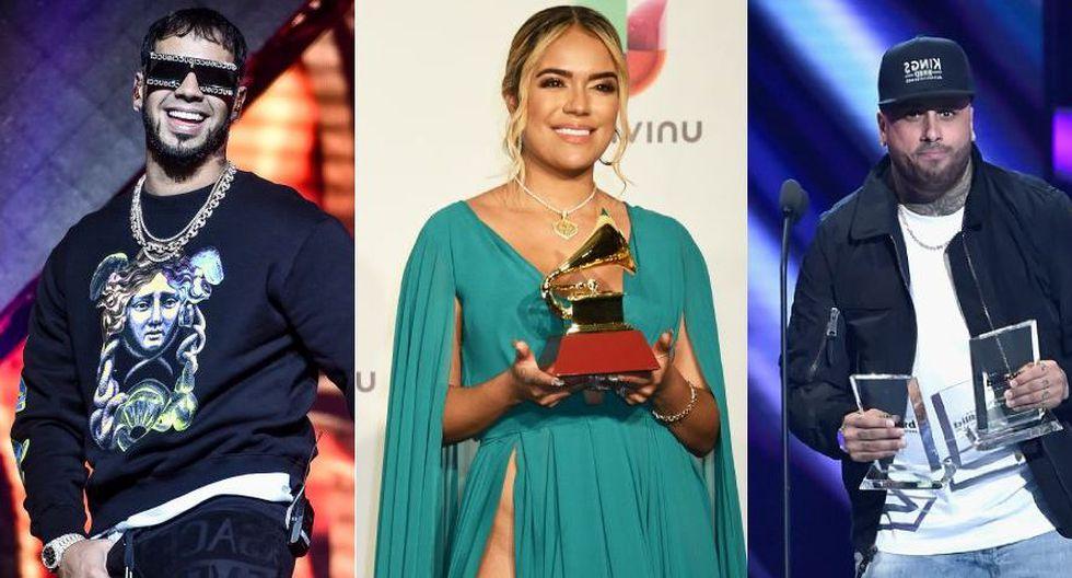Karol G, Anuel AA, Becky G, Nicky Jam y Natti Natasha se hicieron un espacio en el mundo de la música, pero tuvieron temas polémicos. (Foto: AFP)
