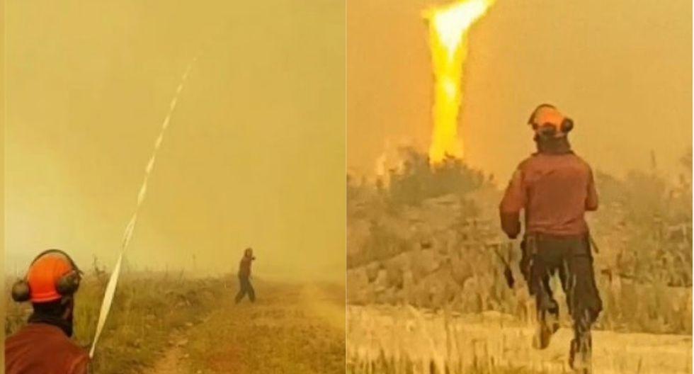 Un récord de 1,3 millones de hectáreas de bosques en Columbia Británica se vieron ennegrecidas por 2.066 incendios forestales en los meses recientes. | Foto: Captura de video