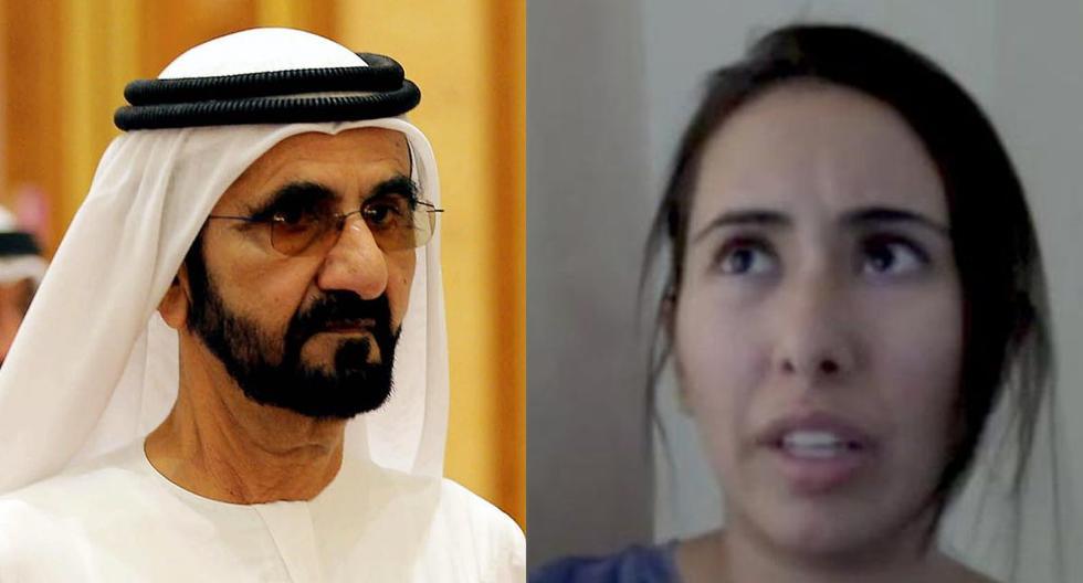 La princesa Latifa Al Maktoum, una de las hijas de Mohammed bin Rashid al Maktoum (izq.), jeque de Dubái, denunció ser rehén en una mansión. (Foto: EFE/AP)