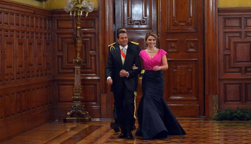 del Angélica Rivera lució traje de Óscar de la Renta para ceremonia del Grito de Independencia. (Presidencia de México)