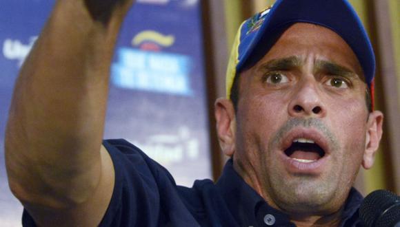 Capriles sigue en pie de lucha. (AFP)
