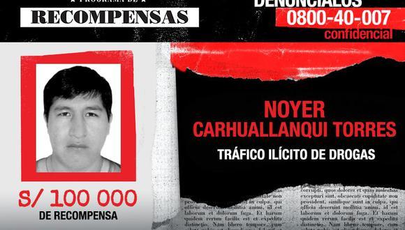 Noyer Carchuallanqui encabeza la lista de nuevas incorporaciones. (Ministerio del Interior)