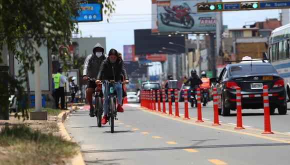 La ciclovía de la Avenida La Marina se implementó durante la pandemia. (GEC/ Currarino)