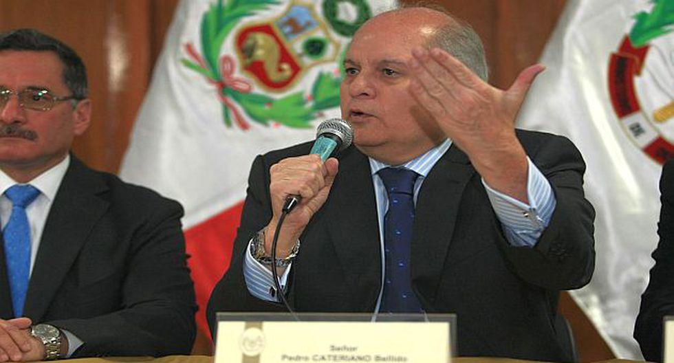Conferencia de prensa que dio Cateriano ayer en su despacho. (Perú21)