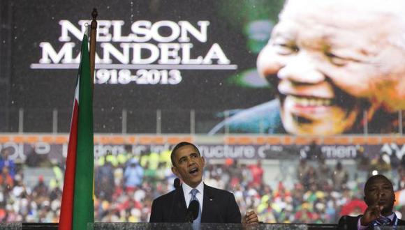 Barack Obama le dedicó sentidas palabras a Nelson Mandela. (AP)