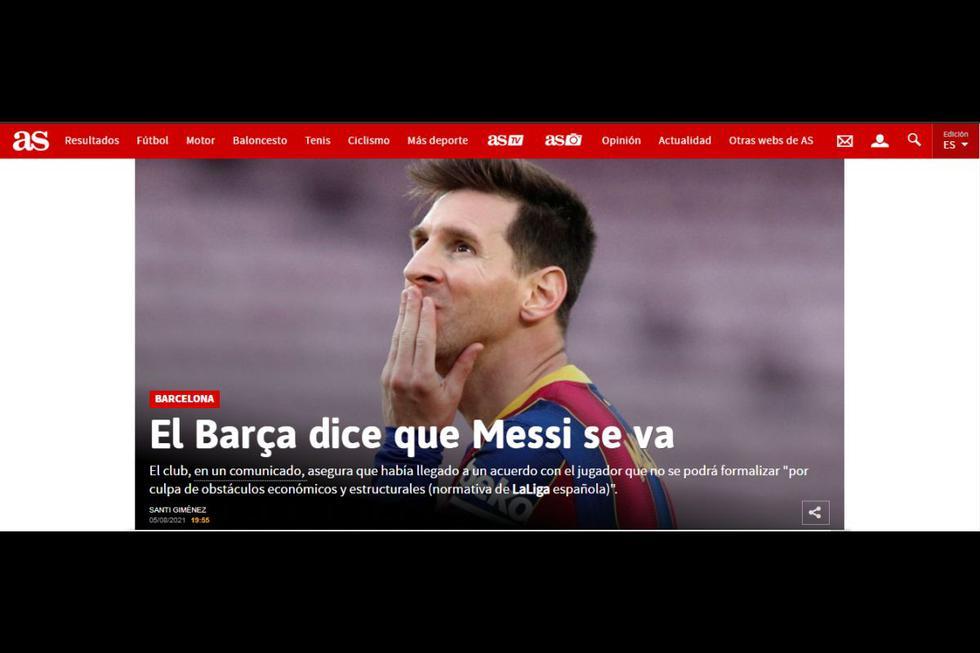Lionel Messi ya no seguirá en Barcelona, así reaccionaron los medios internacionales. (Foto: Captura)