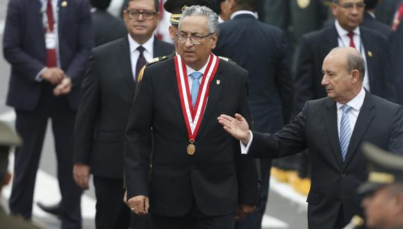 El presidente del Poder Judicial participó en la ceremonia por el 139 aniversario de la Batalla de Arica. (Foto: Mario Zapata / GEC)