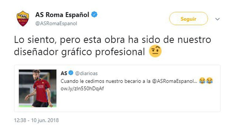 Respuesta de la Roma. (Twitter @ASRomaEspanol)