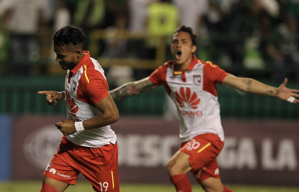 Santa Fe ganó 2-1 a Deportiva Cali y pasó a las semifinales de la Copa Sudamericana. (Agencias)